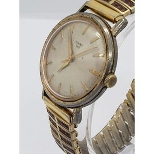 Vintage Timex Men Gold Tone Automatic 36mm Watch